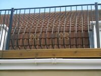 "WROUGHT IRON FENCING WAS USED ON BALCONY 12 ft 11"" TOTAL LENGTH"