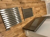 7 x Brushed Stainless Steel Designer Radiators With Matching valves - Over £2K new
