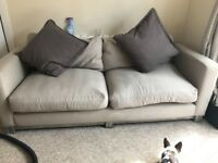 2 seater French connection sofa