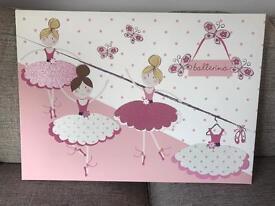 Large NEXT Ballerina Canvas AS NEW!