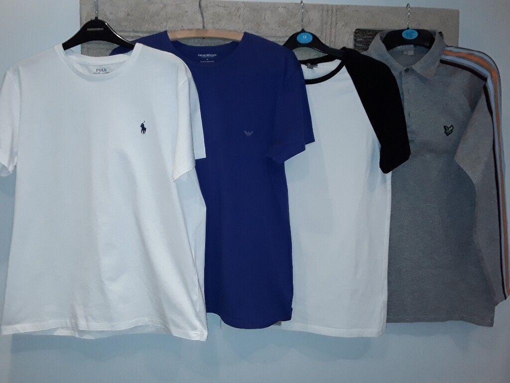Bundle Of Mens Designer T Shirts Glasgow In Southside Glasgow