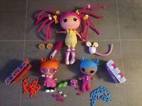 LaLaLoopsy Bundle Silly Hair Dolls   Snuggle Stuff, Specks Reads-a-lot, Sugar C