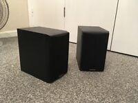 sandstorm bookshelf speakers 100 watts