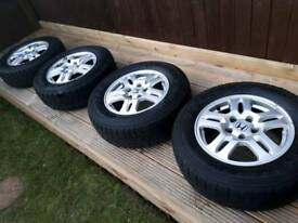 "Set of 4 Honda CRV 15"" alloys with all-terrain 4x4 tyres"