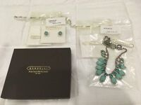 NEW Sorrelli Crystal Stud Earrings and Light Up Your Life Necklace - Cupcake