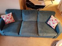 Teal 3 Seater Sofa for Sale