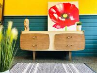 Mid Century Modern Two-tone Formica Sideboard