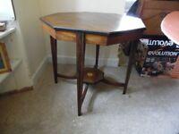 Octaganol Hall table Rosewood/mahogany
