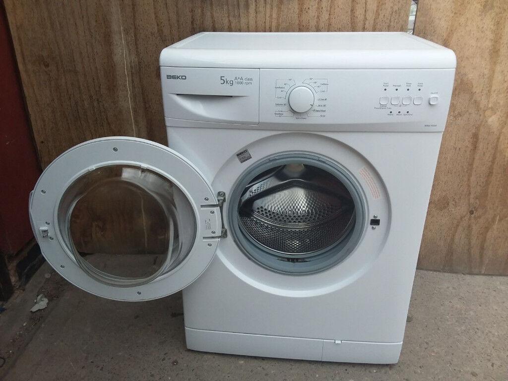 Beko, WM5100W, Washing Machine, 5KG, 1000RPM, Polar White