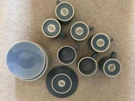 7 Denby Cups and Saucers