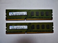 2 x Samsung M378B5673FHO-CF8 2GB PC3-8500U 1066MHz 2RX8 Desktop RAM =4GB