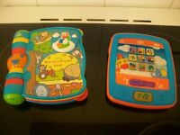 ELC Singing Nursery Rhyme Book & Bright Starts Toy Tablet