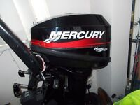 mercury 10hp outboard engine motor fishing boat