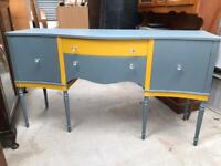 Re finished vintage serpentine front sideboard FREE DELIVERY PLYMOUTH AREA