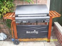 Barbeque four stainless steel burners billyoh make , could do with a little tlc