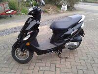 50cc Peugeot V Clic moped.