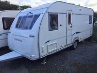 Fleetwood Sonata Nocturne 4 Berth Fixed Bed Touring Caravan 2006