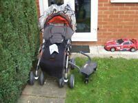 Pushchair 6 months over with foot cover and hood