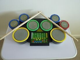 Electronic toy drum kit with 30 rhythms from Cyber Drum Center (Kid's com)