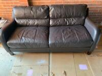 Free Brown DFS sofa (Woodley)