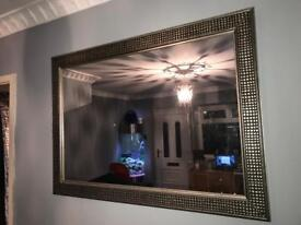 Large silver/gold mirror