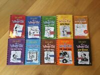 10 Diary of a Wimpy Kid books for children in excellent condition