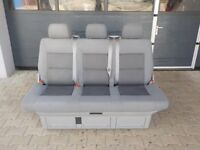 Vw T5 Transporter Multivan Camper Conversion Beach Caravelle Triple Rear Seat / Rock And Roll Bed