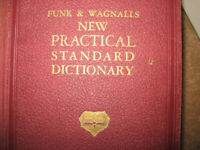 Book Funk & Wagnalls New Practical Standard Dictionary 1946, rare 1 vol.edition + Illustrations