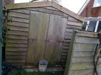 3 x garden wooden sheds storage