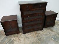Mahogany bed room furniture draws