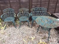 Cast garden furniture