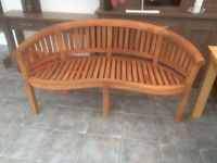 Teak benches,properly made.
