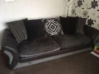 Black/grey sofa