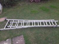 Large extending leaning ladder