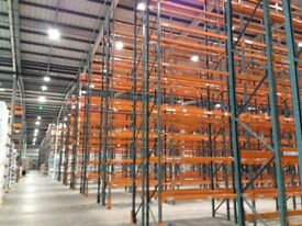 5 bay run of dexion pallet racking 9 meters high!!( storage , shelving )