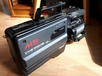 National (Panasonic) M5 full VHS camcorder - with case, strap, remote and charger