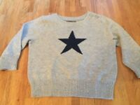 Baby gap Christmas winter jumper 3-6 months star