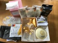 Medela Electric Breast Pump, bottles & More