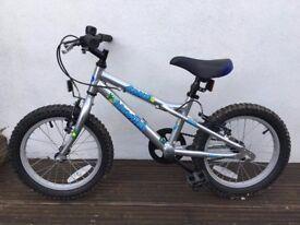 """Dawes Blowfish 16"""" Kids Bike in Silver/Blue"""
