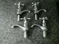 Chrome Washbasin and bath taps