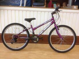 Girls mountainbike - refurbished Klondyke: 24inch wheels, 18-speed