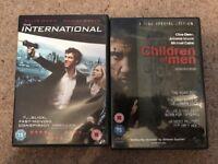 Clive Owen films- the international and children of men