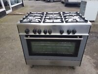 KENWOOD CK304FS 90cm SINGLE CAVITY DUAL FUEL RANGE COOKER-STAINLESS STEEL