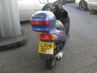direct bike 50cc new cluch back box wind sheld still 10 mths mot