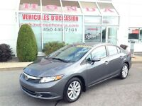 2012 Honda Civic EX * Mags * Toit-ouvrant * Bluetooth * USB