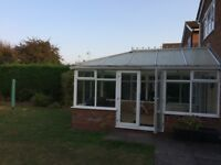 White upvc conservatory - 5m by 3.3m- buyer to dismantle