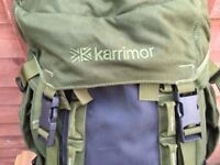 WANTED Karrimor Sabre 60-100 vgc olive with crampon patch built-in side pockets