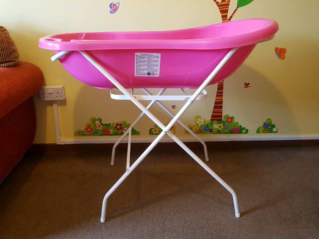 Baby bath with folding stand | in Salford, Manchester | Gumtree