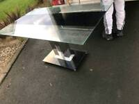 heavy heavy glass top dining room table