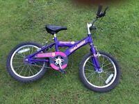 "Girl's Raleigh bike 16"""